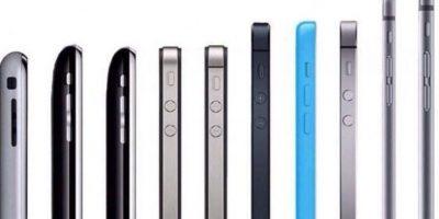Esta es la evolución del iPhone Foto:twitter.com/maxiphones