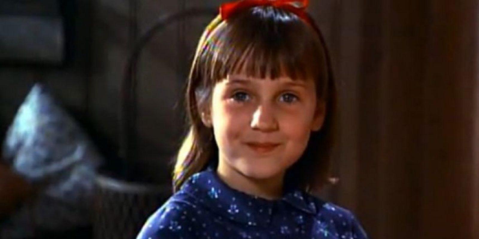 """Mara Wilson fue un encanto en los 90. En """"Matilda"""" y """"Papá por siempre"""", mostró su rostro angelical. Foto:vía TriStar"""