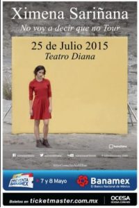 El 25 de julio se presentará en Guadalajara, Jalisco. Foto:Ocesa