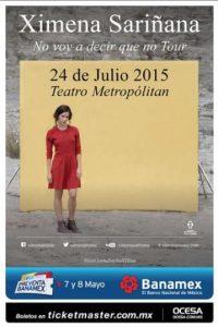 Ximena se presentará el 24 de julio en la Ciudad de México. Foto:Ocesa