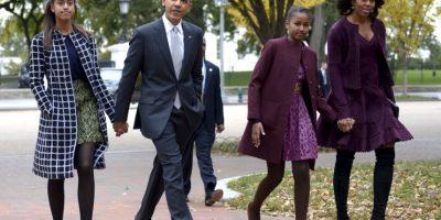 La primera dama es la madre de Malia y Sasha Obama, de 16 y 13 años respectivamente. Foto:Getty Images