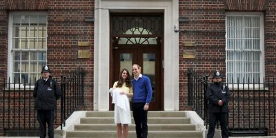 Así los duques presentaron a la princesa. Foto:Getty Images