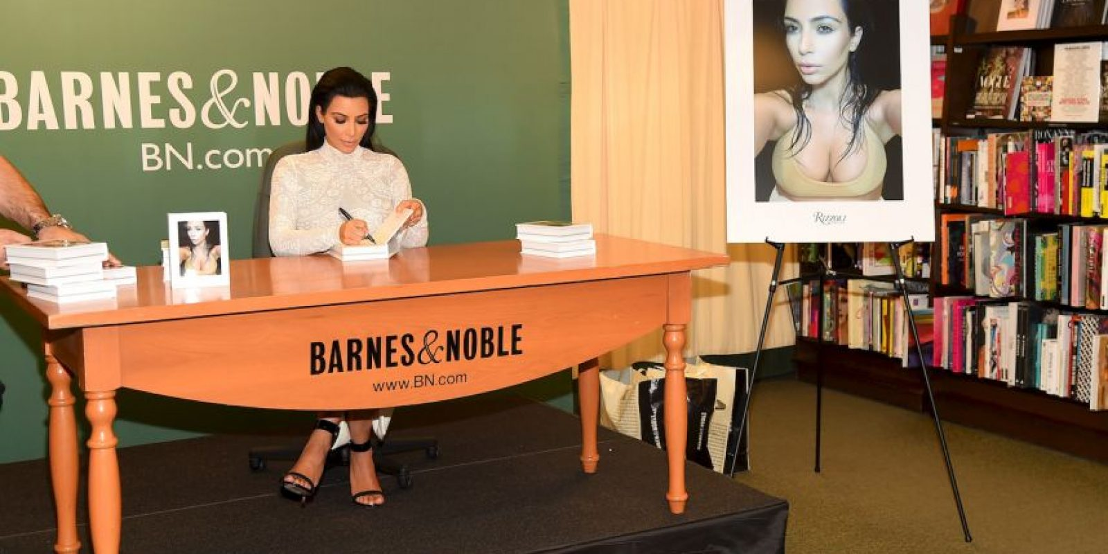 Kim en ningún momento perdió la sonrisa Foto:Getty Images