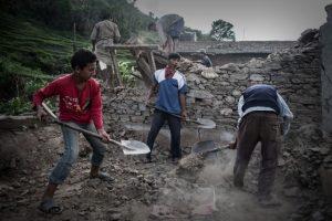 Continúan las labores de rescate y reconstrucción del país. Foto:AFP