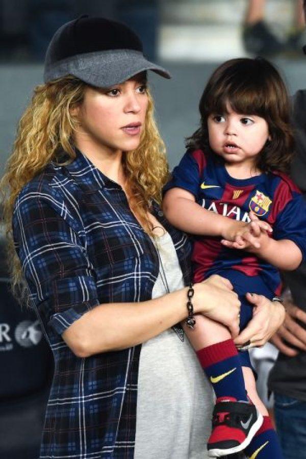 El primer hijo de la colombiana es muy parecido a ella. Foto:Getty Images