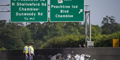 La avioneta que se estrelló provenia del aerodomo DeKalb-Peachtree Foto:AP