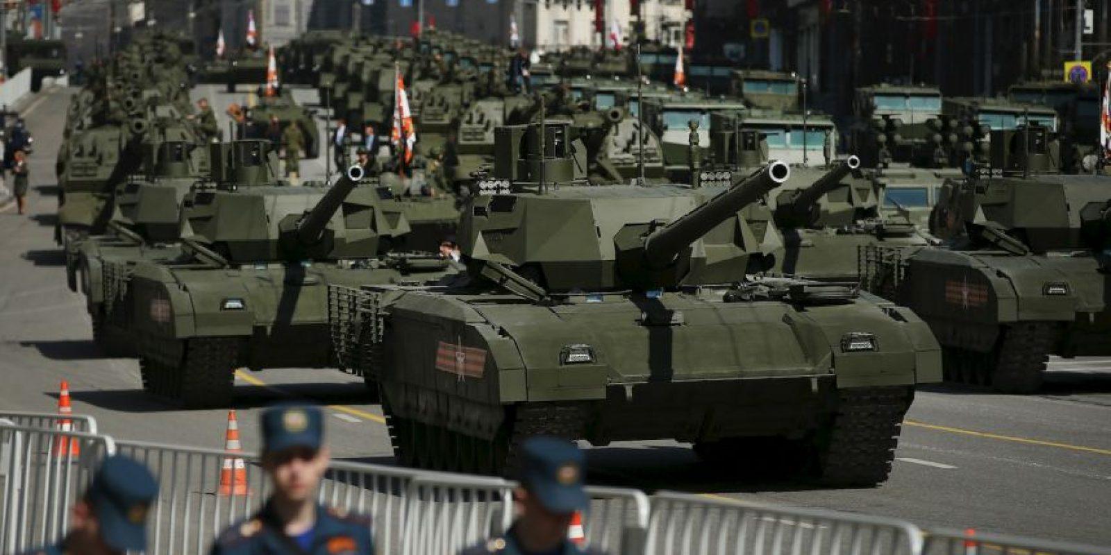 El gobierno de Rusia también presentó nuevo armamento. Foto:Getty Images
