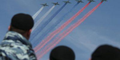 La celebración culmina con fuegos artificiales por toda la ciudad de Moscú. Foto:Getty Images