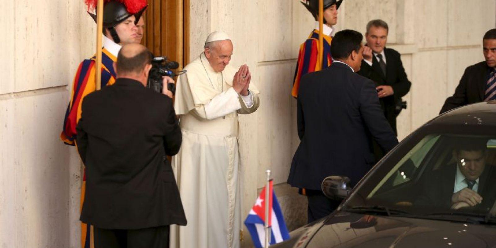 La reunión se celebró en el estudio y salones adyacentes al Aula Pablo VI. Foto:Getty Images