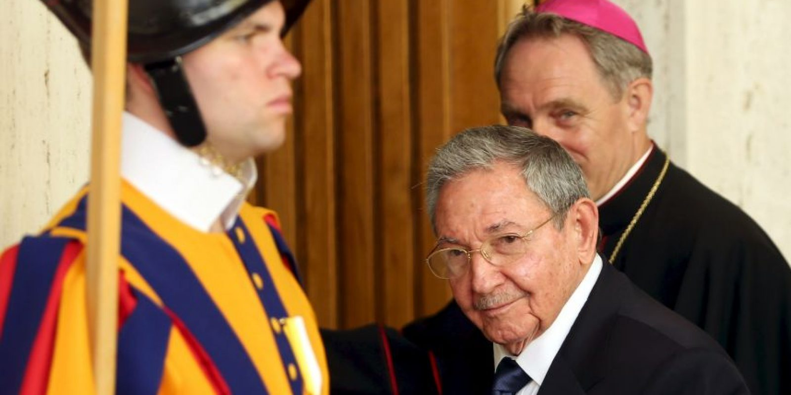 No es la primera vez que Raúl Castro visita el Vaticano. Foto:Getty Images
