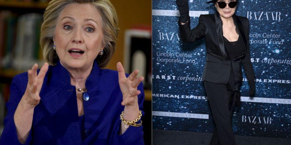 Falso romance entre Yoko Ono y Hillary Clinton se hace viral