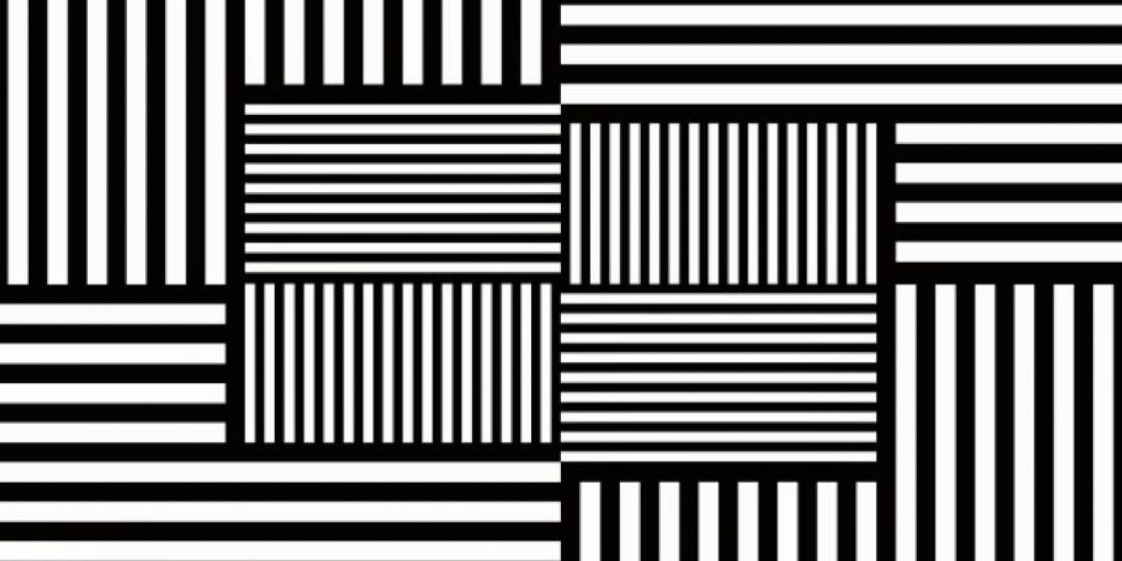 Luego de ver el video -si se animan- regresen a ver esta imagen. Si han adquirido dicho efecto podrán ver colores verdes y rojos entre las líneas. Foto:Tumblr.com/Tagged/ilusion/optica
