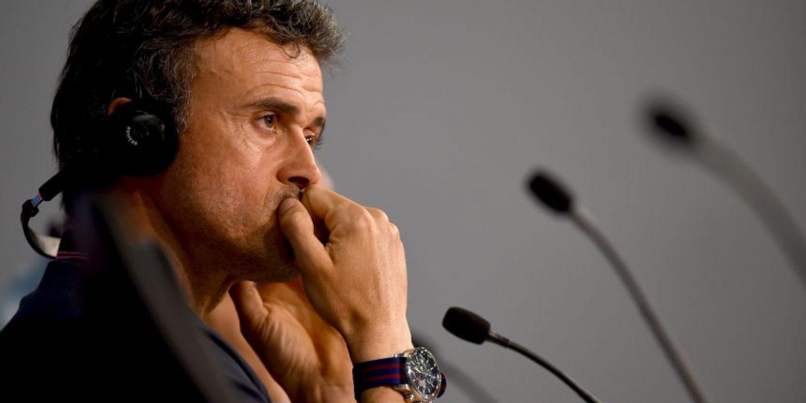 """""""Tenemos que salir serios y concentrados"""", declaró el DT blaugrana, Luis Enrique Foto:Getty Images"""