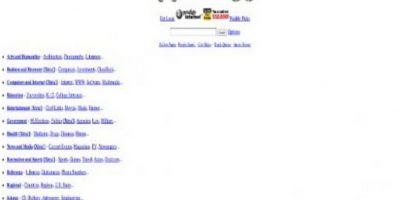 El portal de noticias Yahoo en 1994. Foto:Yahoo