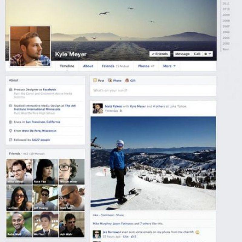 Así se ve el perfil de Facebook en la actualidad. Foto:Facebook