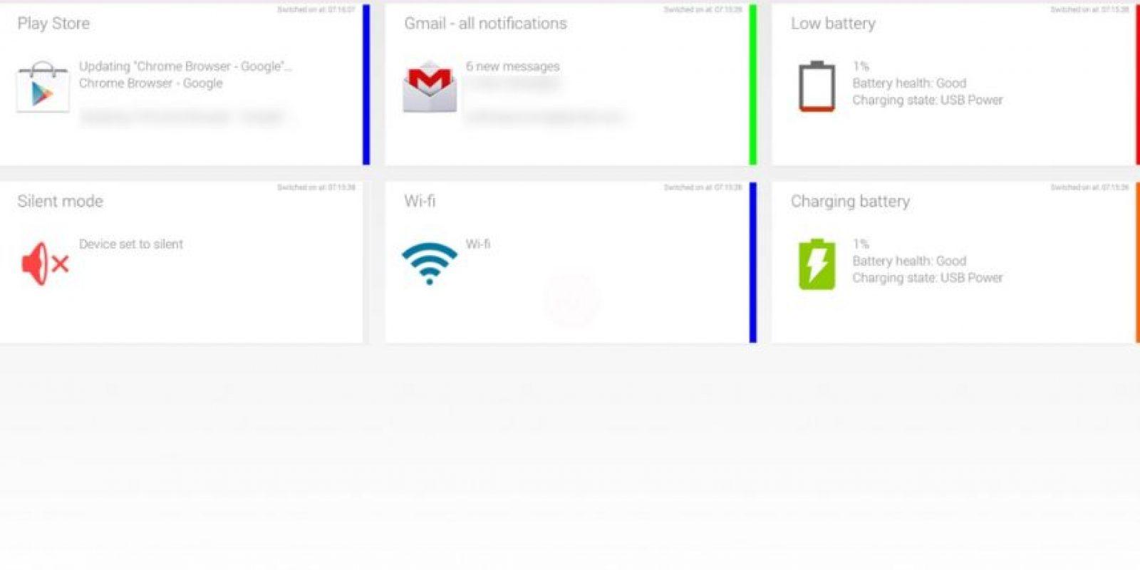 Permite elegir un color para cada aplicación, por lo que cuando vean parpadeando la luz, sabrán exactamente de qué app es la notificación. Foto:Reactle