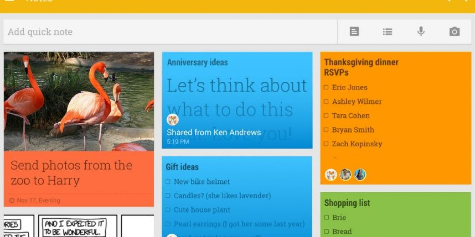 Se trata de una app que permite ingresar recordatorios, fotos, documentos, enlaces y todo lo que requieran en su vida cotidiana. No tiene aplicación para iPhone. Foto:Google Inc.