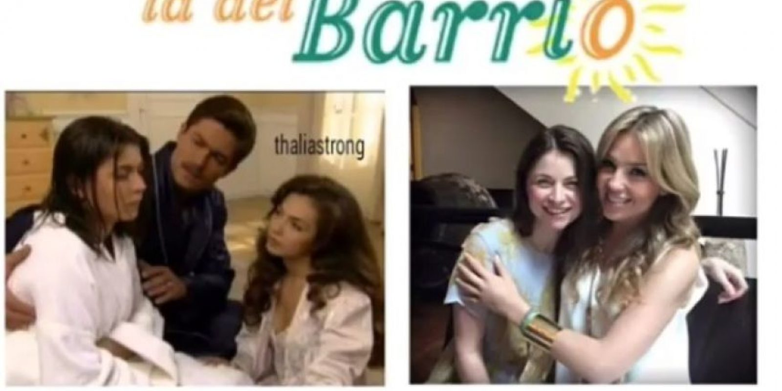 Aquí una comparación de las actrices en 1995 y ahora en 2015. Foto:Vía instagram.com/thalia