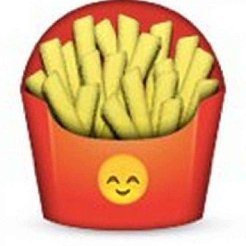 Podrían parecer unas papas fritas normales, pero en el empaque tiene un emoji de un rostro que simboliza felicidad. Foto:emojipedia.org