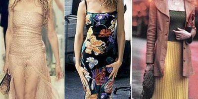 """En Nueva York hicieron una exposición con los icónicos vestidos que las actrices de """"Sex and the City"""" usaron. Pero ella dice que su tienda no es eso ni ella misma. Foto:vía HBO"""