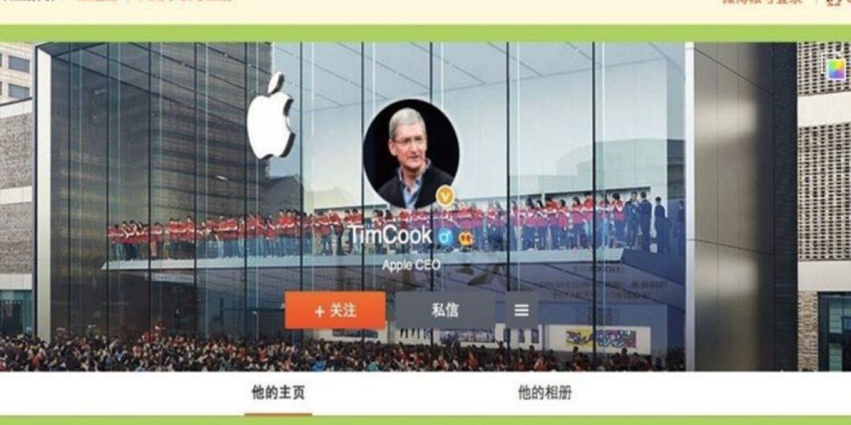 CEO de Apple saludó a los chinos desde Weibo, el