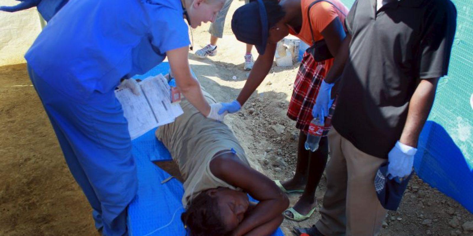 En 2010 Haití enfrentó un gran brote de cólera que dejó un saldo de más de ocho mil personas muertas. Foto:Getty Images