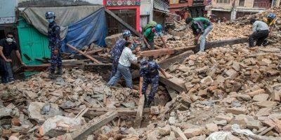 Tras el terremoto de magnitud 7.8 que sacudió Nepal se registraron casos de fiebre tifoidea. Foto:Getty Images