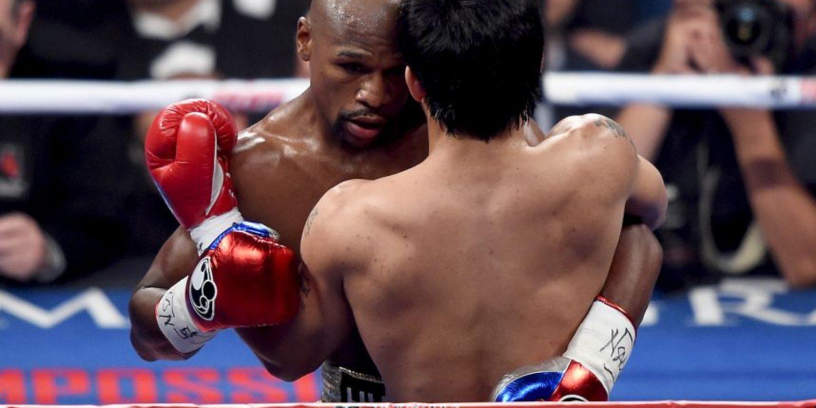 """Las peleas que más Pago por Evento han vendido en la historia son: Mayweather vs. Pacquiao – 4.4 millones, Mayweather vs. De la Hoya – 2.48 millones, Mayweather vs. """"Canelo"""" Álvarez – 2.25 millones… Foto:Getty Images"""