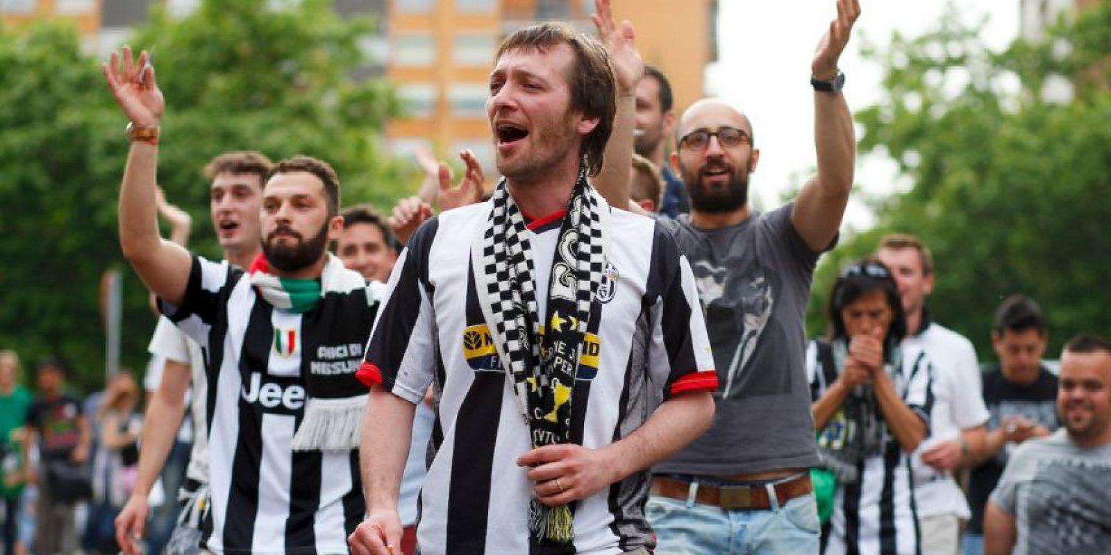 """La afición """"bianconera"""" hizo acto de presencia en España. Foto:Getty Images"""