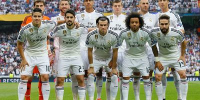 Con esta oncena, Real Madrid saltó a la cancha del Bernabéu. Foto:Getty Images