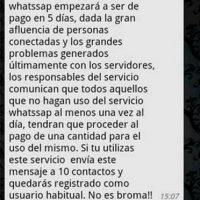 Mito: Si no comparten el mensaje, WhatsApp ya no será gratis. Foto:Tumblr