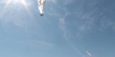 Los globos en pruebas en Nueva Zelanda. Foto:Google