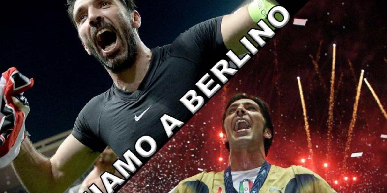 Buffon publicó en su cuenta oficial esta imagen donde informa que vuelve a Berlín, al estadio donde con Italia, se coronó campeón del mundo en Alemania 2006. Foto:Vía twitter.com/juventusfc