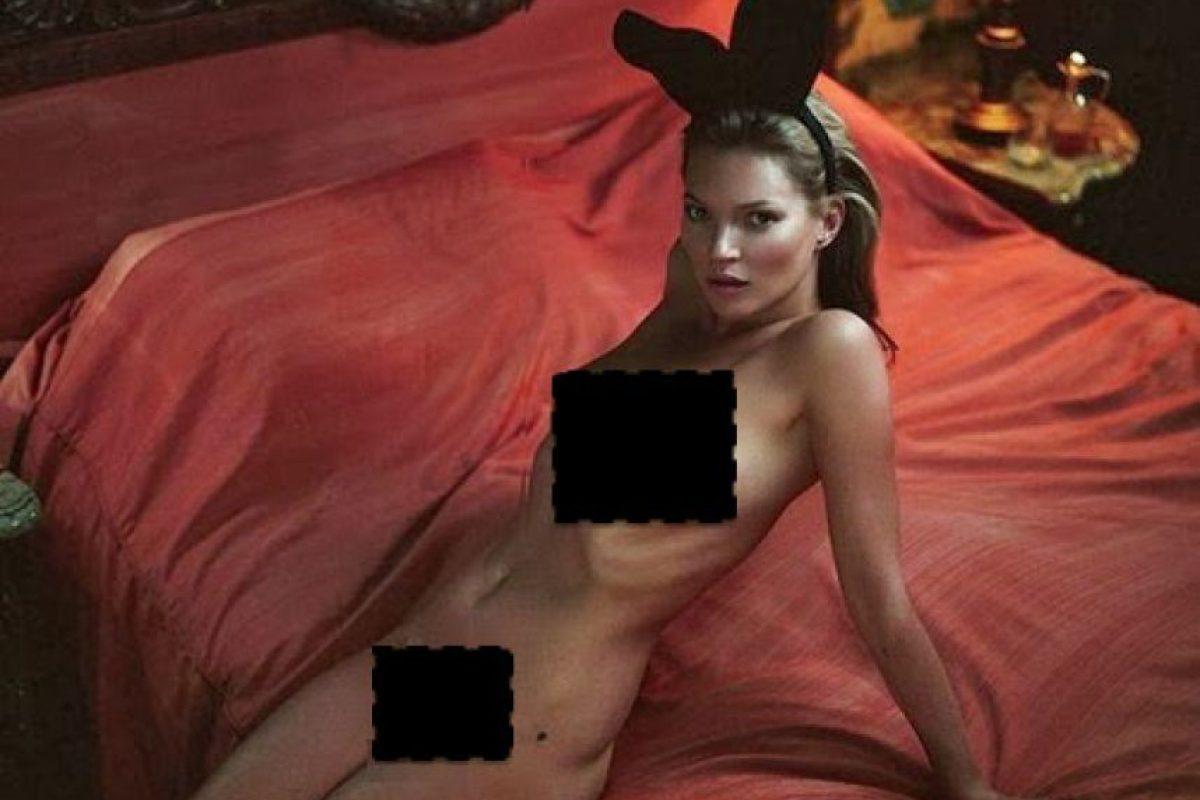 Kate Moss. Foto:vía Playboy