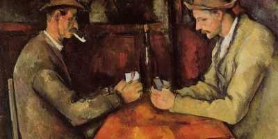 2. The Card Players (circa 1894-1895)- La obra de Paul Cezanne fue vendida en 2011 por 274 millones de dólares Foto: Wikimedia Commons
