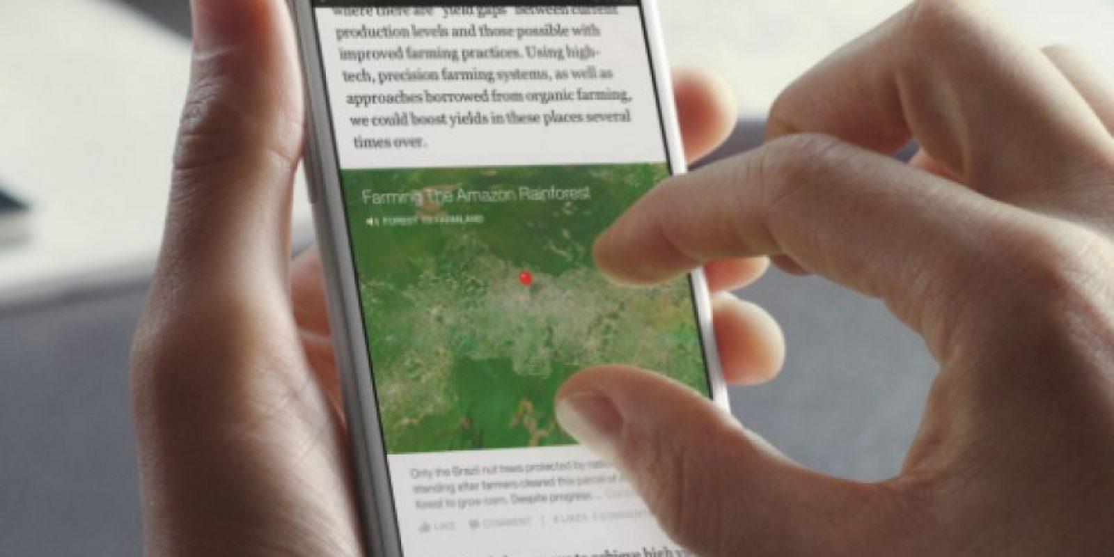 Las imágenes y mapas tendrán zoom y resolución HD. Además, algunos serán interactivos Foto:Facebook