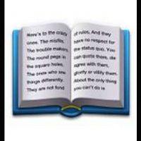 """Este libro contiene parte del comercial de Apple de 1997 llamado """"Piensa diferente"""" Foto:Emojipedia"""