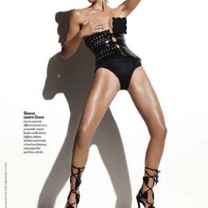 Sharon Stone. Foto:vía Parisian Magazine.