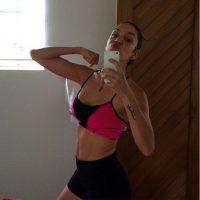Valentina Lizcano. La actriz es una de las mujeres más fit de la farándula. En su cuenta de instagram ha dejado ver cómo se ejercita diariamente para tener uan figura como esta a unos pocos meses de haber dado a luz a su hijo Salvador. Foto:Instagram