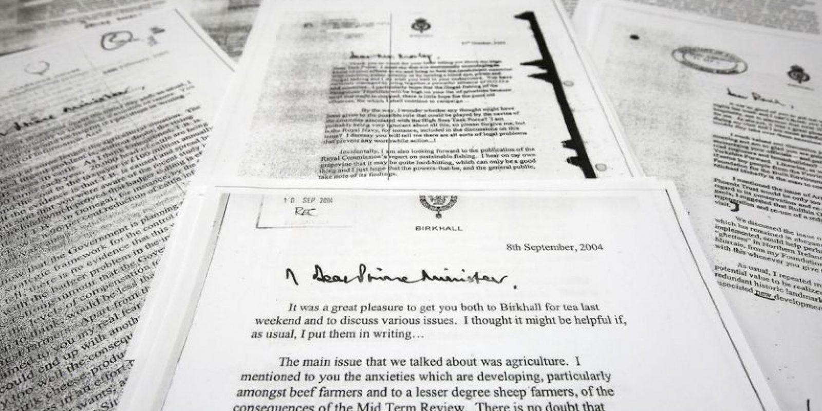 """1. Los memorandos fueron llamados """"black spider"""" (araña negra) por la caligrafía del príncipe. Foto:AP"""