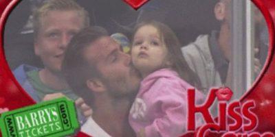 David Beckham y su hija Foto:Pinterest.com