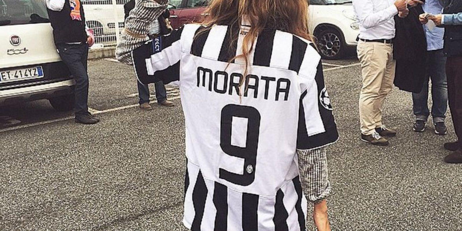 Ella se mudó a Italia para seguir a Morata Foto:Vía instagram.com/mariapombo