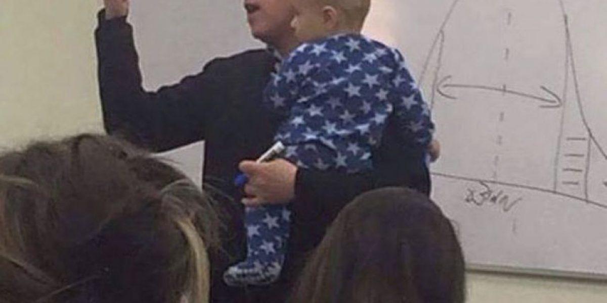 FOTOS: Esta es la manera más épica de callar a un bebé que está llorando