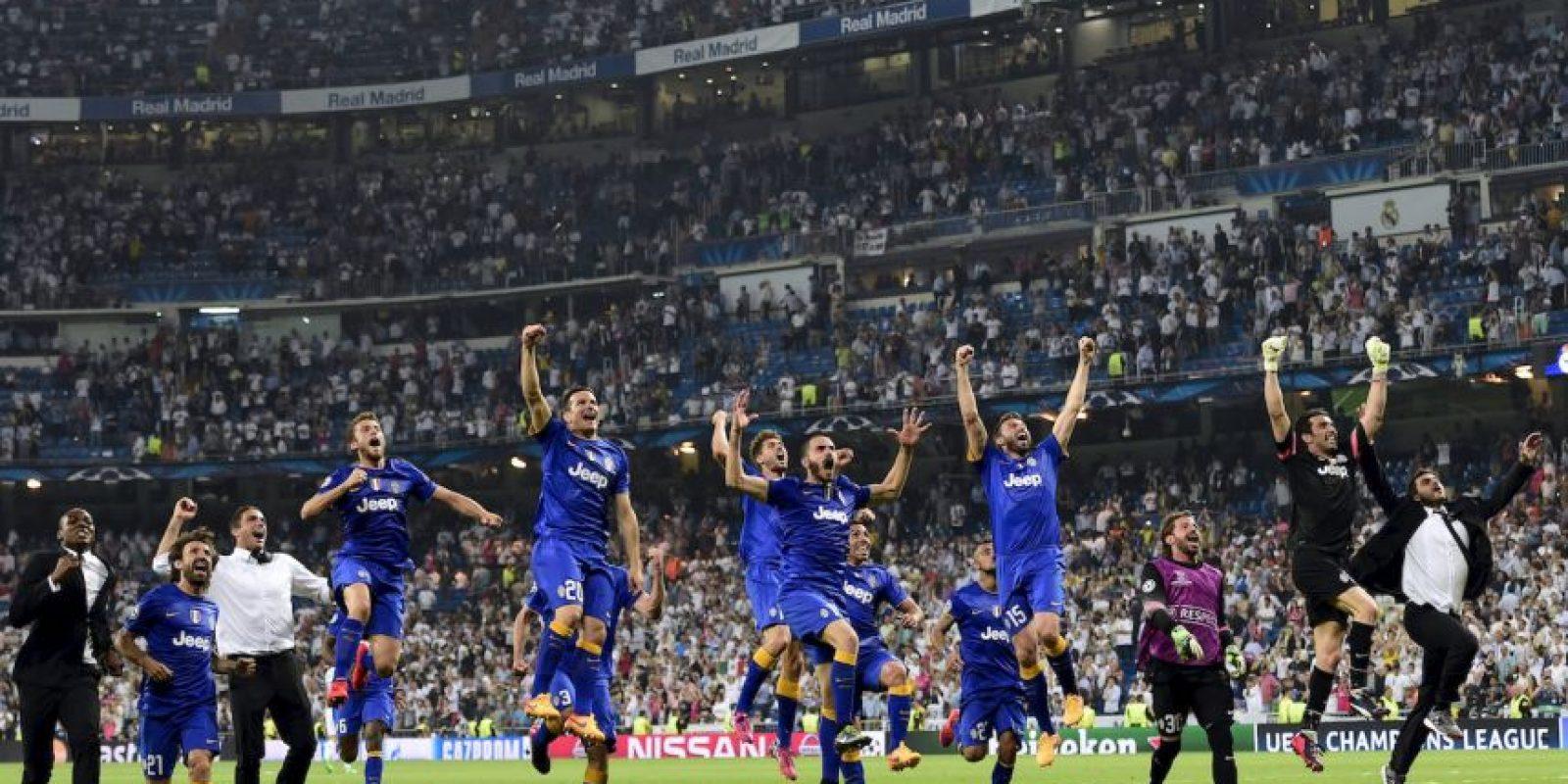 Juventus celebra su victoria sobre Real Madrid. Se clasificó a la final de la Champions League, que se jugará el 6 de junio en Berlín. El otro finalista es Barcelona. Foto:AFP