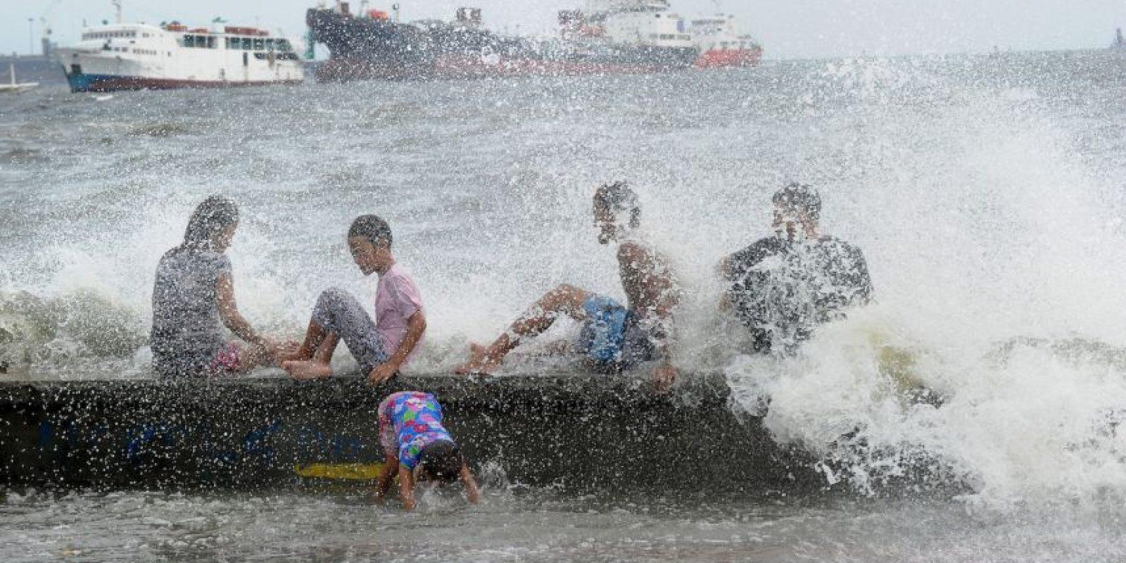 Azote de supertifón en Filipinas. Foto:AFP