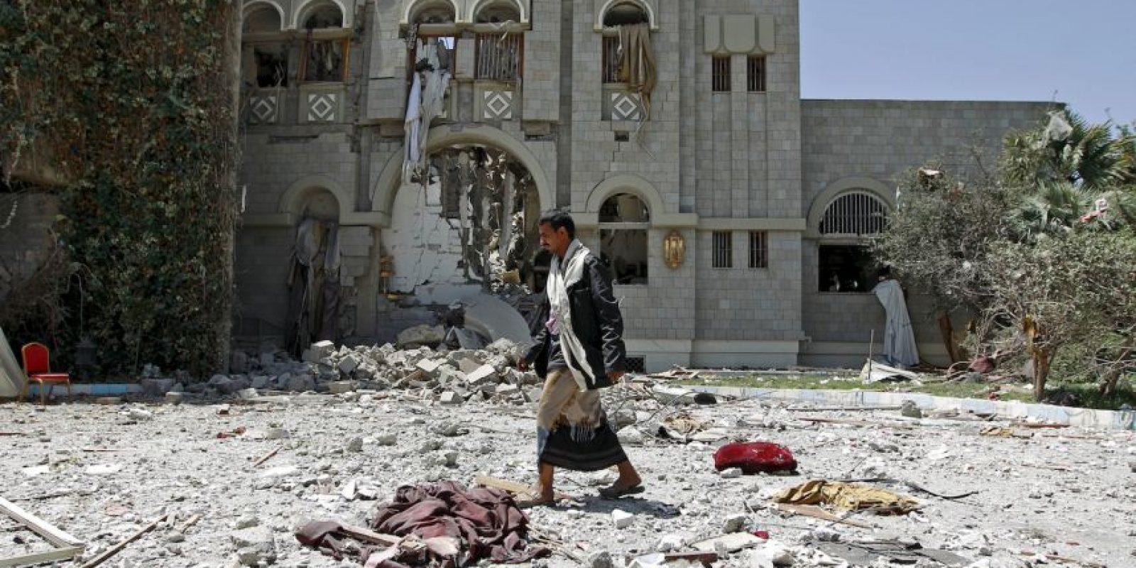 Ataques aéreos reportados en Yemen. Foto:AFP