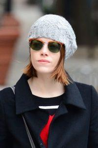 Emma Stone, sin maquillaje. Foto:vía Getty Images