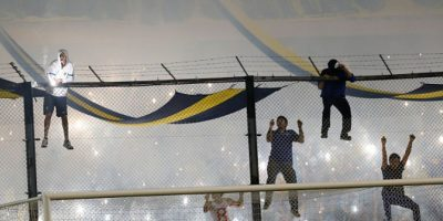 El partido entre Boca Juniors y River Plate, de vuelta de octavos de final de la Copa Libertadores, fue suspendido. Foto:Getty Images