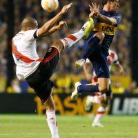River Plate mantenía su ventaja global de 1-0 tras un empate sin goles al medio tiempo. Foto:Getty Images