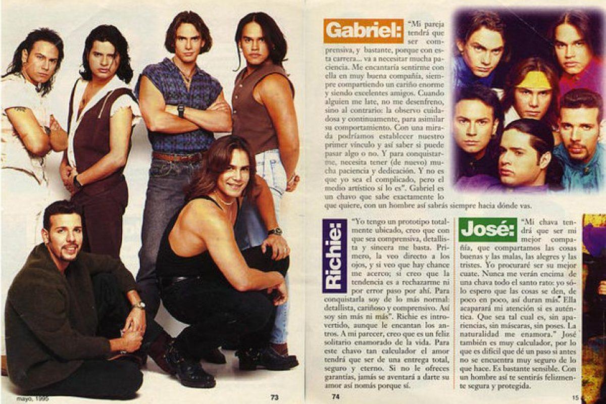 """En 1994 y 1996 sacaron dos grabaciones más: """"Más y Más"""" y """"Marea Azul"""", pero sin el éxito de sus producciones anteriores. Foto:vía RicardoThompson.wix"""